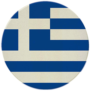 Greek Flag Coasters